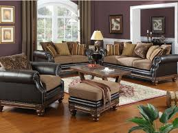 Dark Brown Leather Chairs Brown Leather Living Room Sets Home Design Ideas