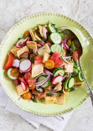 Easy Salad Recipe by Fattoush Bread Salad Recipe Simplyrecipes Com