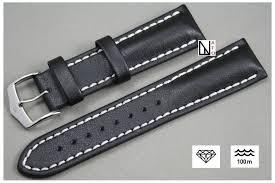 bracelet montre images Bracelet montre cuir hirsch veau noir r sistant eau transpiration jpg