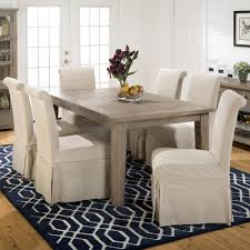 Dining Chair Slipcovers Chair Furniture Simple Wooden Dining Table With White Slipcovered