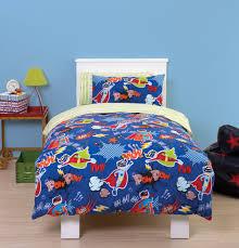 super hero toddler cot bed duvet bedding set pow wam bam this