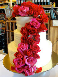 roses and red velvet wedding cake goodiebox bakeshop wedding