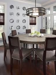 useful modern round dining room table with additional home