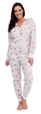 pj jumpsuit womens hooded pj s all in one onezee jumpsuits pyjamas