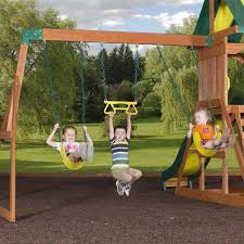 Swings For Backyard Backyard Discovery Weston Cedar Swing Set