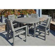 Patio Furniture Cove - hampton bay statesville 5 piece padded sling patio dining set with
