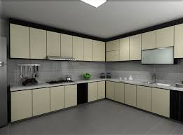 Square Floor L Kitchen Interesting Minimalist Kitchen With L Shaped Cabinet And