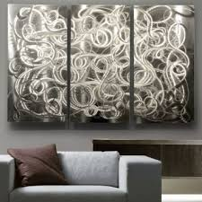Ribbon Metal Wall Decor Buy Eye Catching Silver Metal Wall Art With Hand Made Abstract