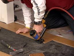 Installing Prefinished Hardwood Floors How To Install An Engineered Hardwood Floor How Tos Diy