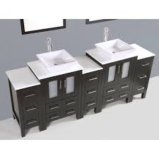 84 Inch Double Sink Bathroom Vanity by Contemporary 84 Inch Espresso Finish Double Square Sink Bathroom