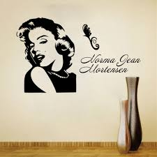 marilyn monroe wall stickers for room decorations diy pvc decals