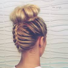 cutting hair upside down do you love this top knot french braid follow me on instagram if