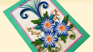 paper quilling card how to make beautiful quilling flowers