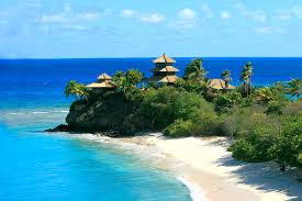 bali houses on necker island caribbean collection