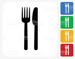 Kitchen Utensil Design by Fork And Knife Icon Flat Graphic Design Stock Vector Art 488155136