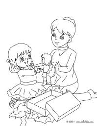 doll gift coloring pages hellokids