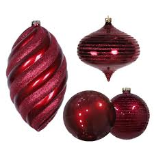 shatterproof christmas ornaments and mesh ribbon