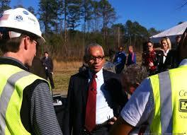nasa administrator views progress of new marshall center test