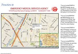 La County Map Los Angeles County Department Of Health Services Emergency Medical