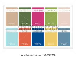 fall colors 2017 colors year palette stock vector 614448857