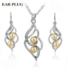 earrings statement necklace images Toucheart simulated pearl indian wedding jewelry sets for women jpg