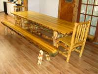 Log Dining Room Table Handcrafted Log Furniture Rustic Log Tables Rustic Log Tables