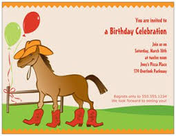 horse invitations vistaprint