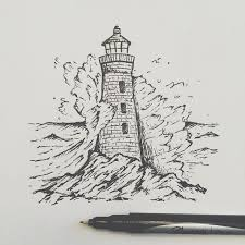 25 unique lighthouse drawing ideas on pinterest waves sketch