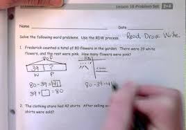 Common Core Math Worksheets Solve Word Problems Within 100 With Video Solutions Worksheets