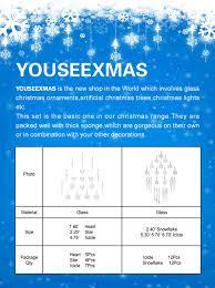 amazon com youseexmas glass icicle christmas ornament pack of 18