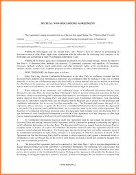 agreement confidentiality agreement template