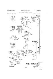 Lateral File Cabinet Lock Replacement by Patent Us2653070 Filing Cabinet Locking Controls Google Patents
