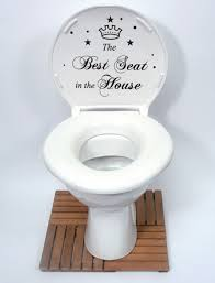 the best seat in the house quote toilet bathroom stickers funny the best seat in the house quote toilet bathroom stickers funny toilet decals amazon co uk kitchen home