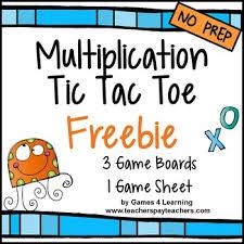 multiplication free multiplication facts tic tac toe