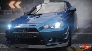 new mitsubishi evo mitsubishi evo x fq400 announced for world of speed team vvv