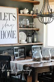 moody dining room shelves grain cottage