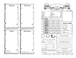 Pick Sheets 102 Best D U0026d Character Sheets Images On Pinterest Character