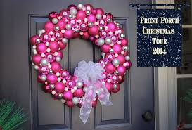 Holiday Decorations 2014 Pink Bulb Christmas Wreath Hometalk