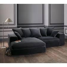 canapé d angle en velours canapé d angle 4 places en velours gris angles velours et canapés