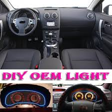 nissan qashqai interior car atmosphere light flexible neon light el wire interior light