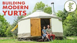 Living In A Yurt by Couple Building Modern Yurt As Super Portable Tiny Home Youtube