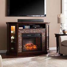 Corner Tv Stands With Electric Fireplace by Corner Fireplace Tv Stands Electric Fireplaces The Home Depot