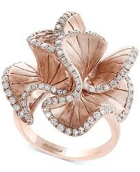flower rings jewelry images Effy collection pav rose by effy diamond flower ring 9 10 ct tif