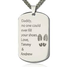 name tag necklace titanium steel tree dog tag necklace with name or words dog