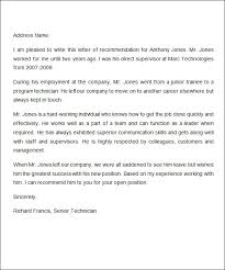 example of recommendation letters sample recommendation letters