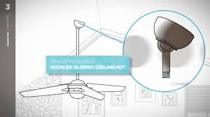 ceiling fans for sloped ceilings kichler ceiling fan fast facts sloped ceiling youtube