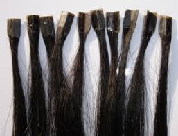 glued in hair extensions v tip glued bond hair