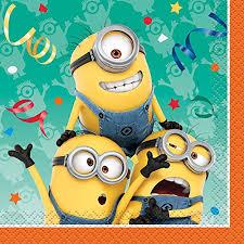 minion party despicable me minions beverage napkins 16ct toys