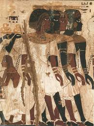 information on egyptain hairstlyes for and ancient egyptian depiction of nubians wearing traditional