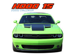 Dodge Challenger Lime Green - dodge challenger hood stripes vinyl graphics accent decal 2015 2018